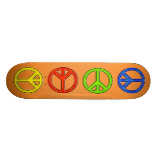 PEACE SIGNS SKATEBOARD