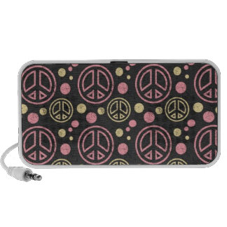 Peace Signs with Polka Dots - speakers