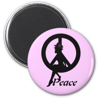 PEACE SILHOUETTE MAGNET