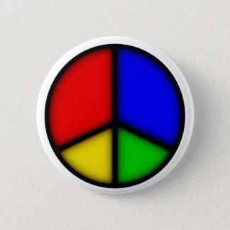 peace simple 6 cm round badge