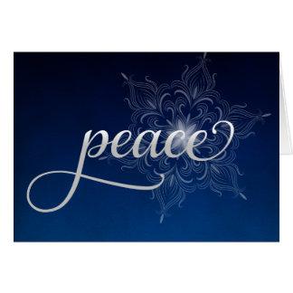Peace Snowflake Christmas Card