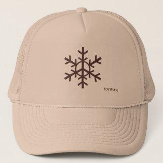Peace snowflake trucker hat - coffee