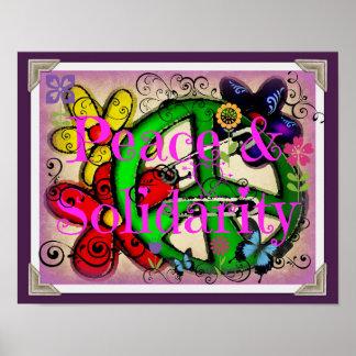 Peace & Solidarity Design Poster