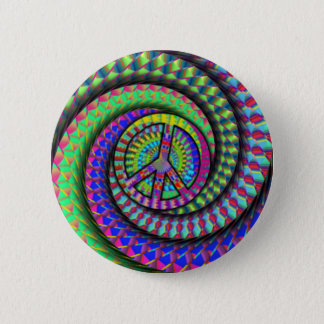 peace-spiral 6 cm round badge