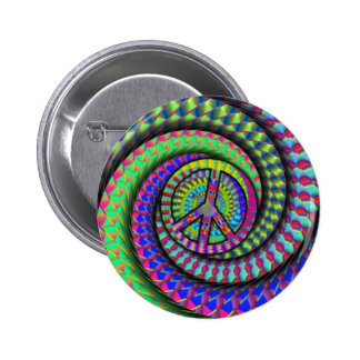 peace-spiral 6 cm round badge
