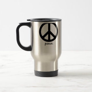 peace! stainless steel travel mug