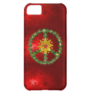 Peace Star Christmas Cover For iPhone 5C