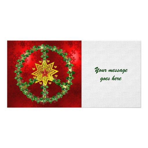 Peace Star Christmas Photo Card