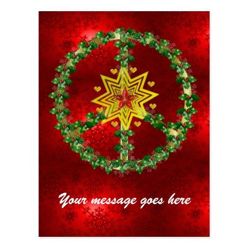 Peace Star Christmas Postcards