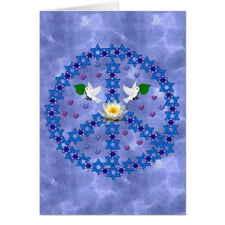 Peace Star Of David Greeting Card