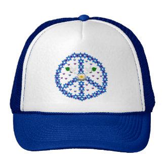 Peace Star Of David Mesh Hats