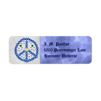 Peace Star Of David Return Address Label