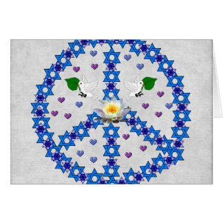 Peace Star Of David Note Card