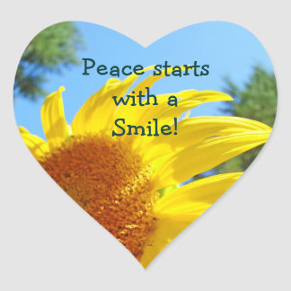 Peace starts with a Smile stickers Sunny Sunflower