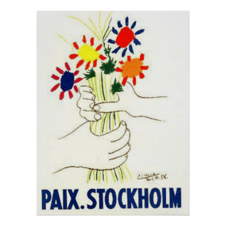 Peace Stockholm poster