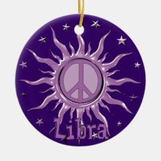 Peace Sun Libra Ornaments