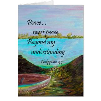 Peace Sweet Peace Card