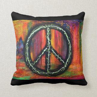 Peace Symbol American MoJo Pillow Cushion