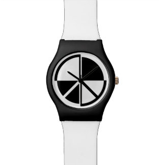 Peace Symbol Black And White Watches