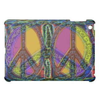 Peace Symbol Colored Glass Case For The iPad Mini