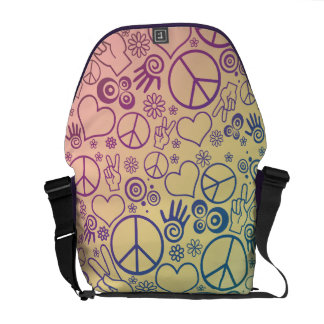 Peace Symbol Design Messenger Bags