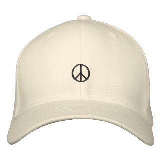 Peace Symbol Embroidered Hat