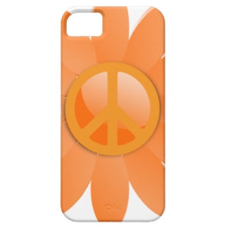 Peace Symbol Flower - Cantelope Orange Barely There iPhone 5 Case