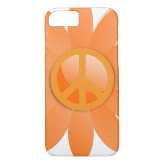 Peace Symbol Flower - Cantelope Orange iPhone 7 Case