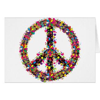 Peace symbol large card