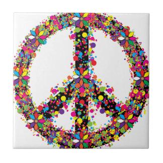 Peace symbol large ceramic tile