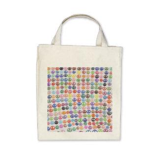 Peace Symbol Organic Grocery Tote Bag
