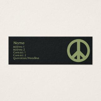 Peace Symbol - Skinny Mini Business Card