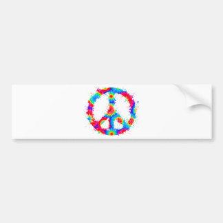 Peace Symbol Tie Dye Ink Bumper Sticker