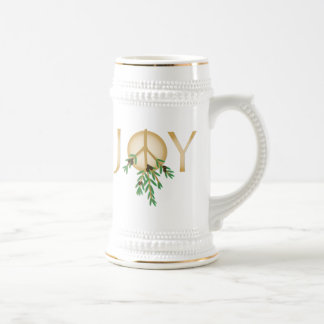 Peace Symbol with olive branch Beer Stein
