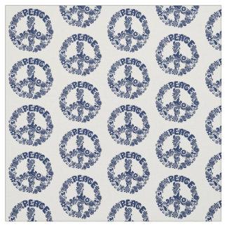 Peace Symbol with Peace Dove Fabric