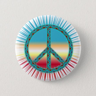 Peace Symbols 6 Cm Round Badge