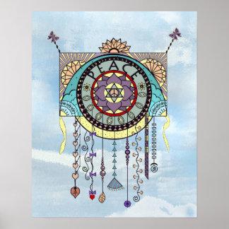 Peace Symbols Kite Dangle Print