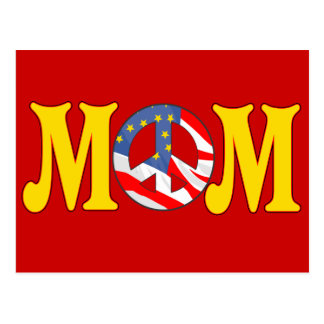 Peace T-shirts and Gifts For Mom Postcard