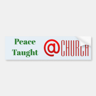 Peace Taught @ Church sticker {Template}