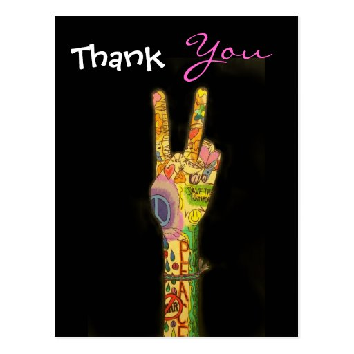 Peace - Thank You Postcard by SRF