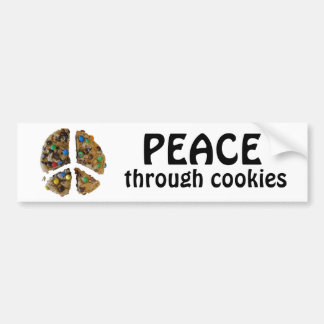 PEACE through Cookies Bumper Stickers