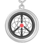 Peace Through Science Round Pendant Necklace