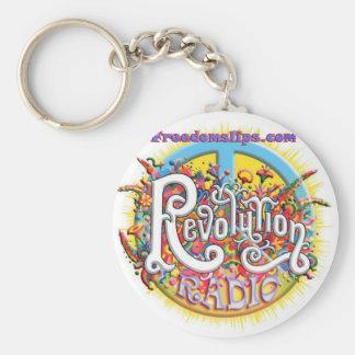 Peace thru revolution key ring