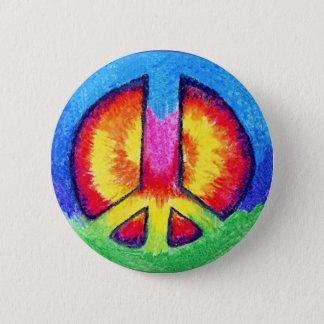 Peace Tie~Dye 6 Cm Round Badge