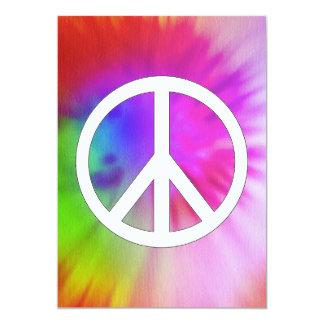 Peace Tie Dye Invitations
