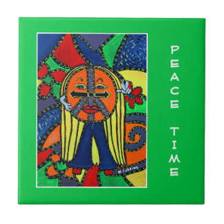 Peace Time  - Green - Time Pieces Ceramic Tile
