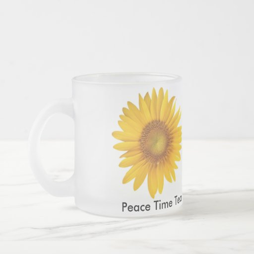 Peace Time Tea Inspirational Glass Mug