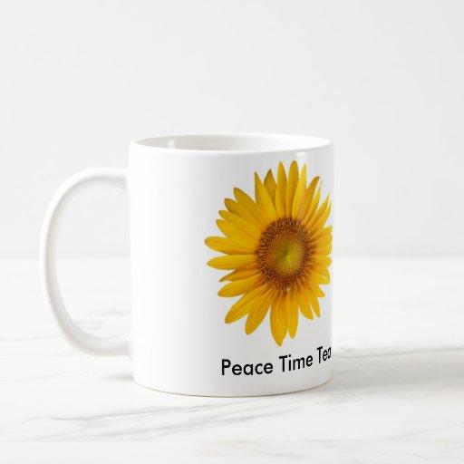 Peace Time Tea Inspirational Mug