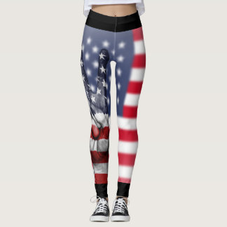 PEACE TO AMERICA (BLACK) LEGGINGS