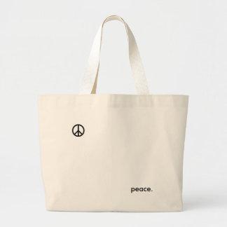 peace. canvas bag